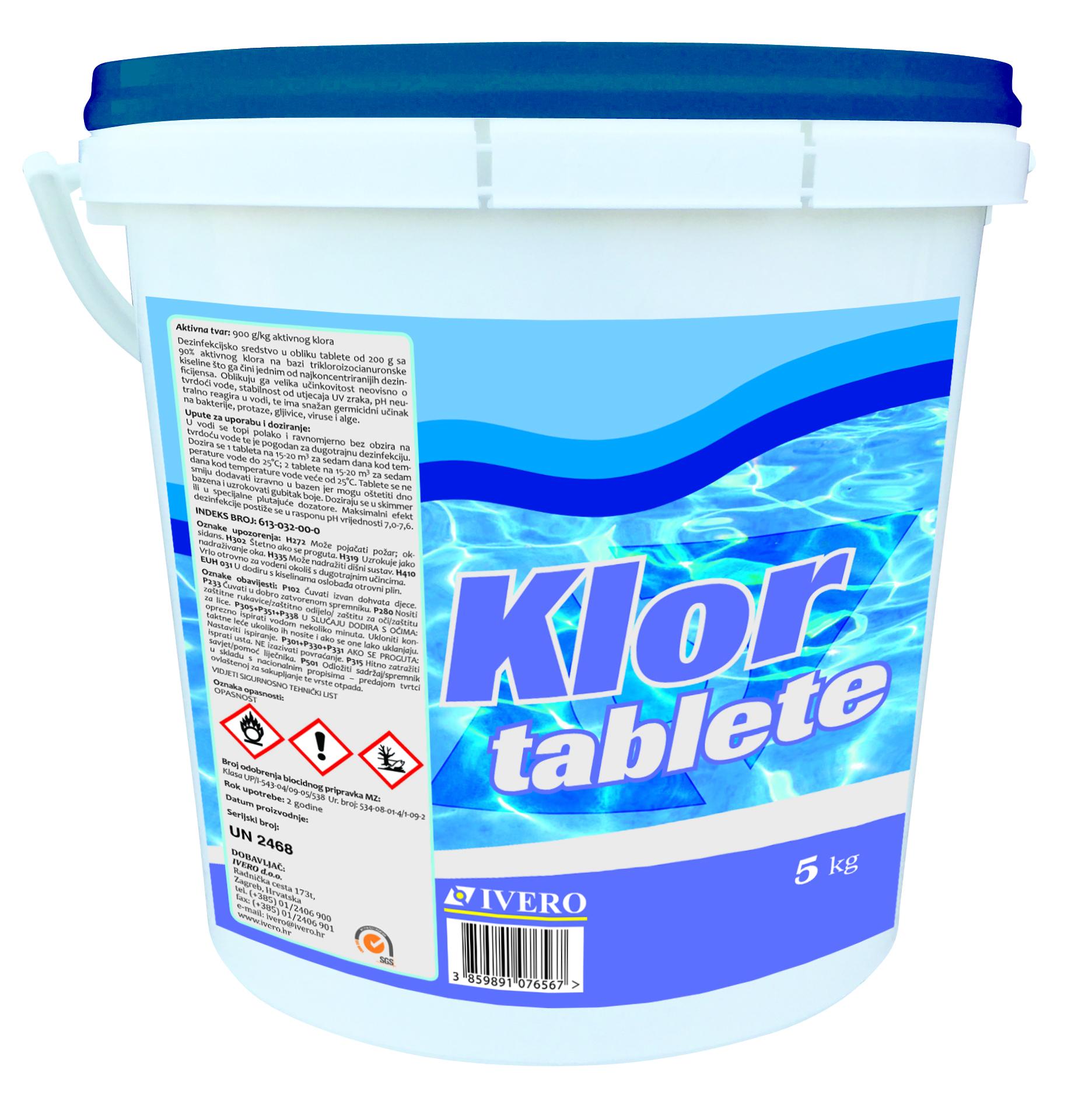 Klor tablete - Ivero - Proizvodnja i veleprodaja kemikalija